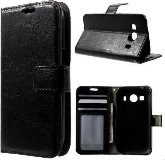 Cyclone wallet hoesje Samsung Galaxy Ace 4 G357FZ zwart