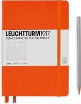 Leuchtturm1917 Notitieboek Oranje - Medium - Gelinieerd