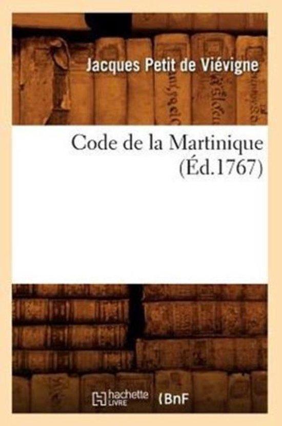 Code de la Martinique (Ed.1767)