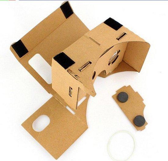 (Google) Cardboard voor smartphones tot 5,5 inch - Virtual reality (VR) bril - inclusief hoofdband en Nederlandse handleiding - Empaza huismerk