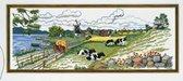 borduurpakket 12-724 zomerlandschap met dieren
