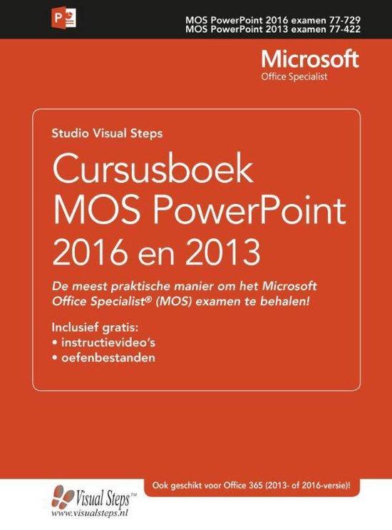 Cursusboek MOS PowerPoint 2016 en 2013 - Studio Visual Steps |