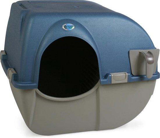 Omega Paw Zelfreinigende Kattenbak L - Blauw