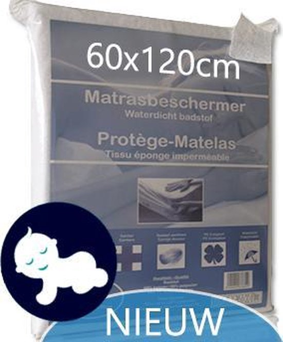 Matrasbeschermer Waterdicht Babybedje 60x120Cm