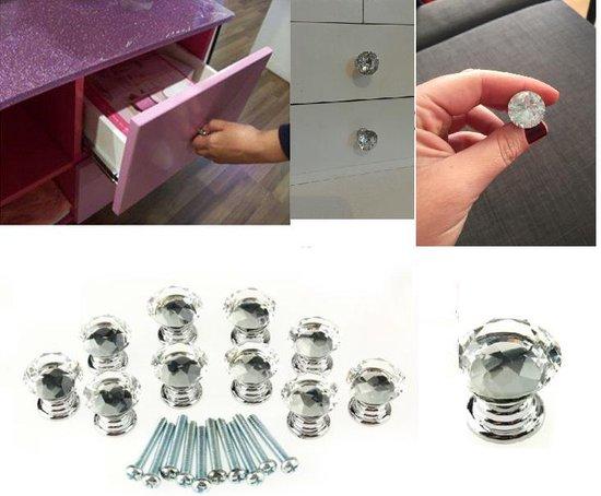 Kastknoppen Set - Keuken Handgrepen - Keukenkast / Deur Grepen - Kast Ladeknop Kastgreep - Transparant