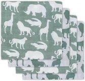 Jollein Safari Hydrofiele luier - forest green - 4 Stuks