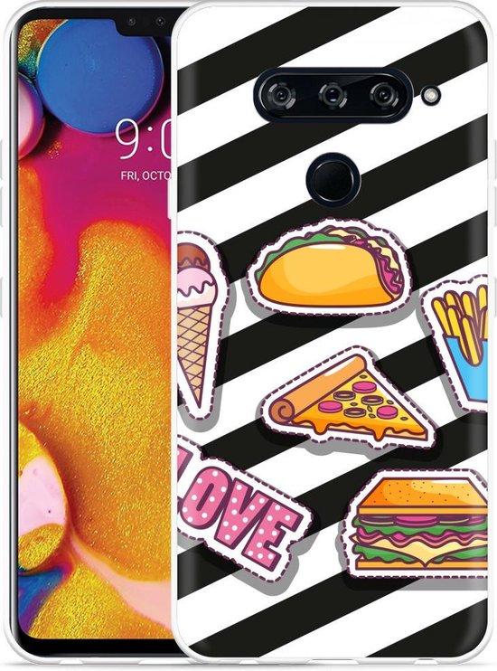 LG V40 Hoesje Love Fast Food