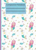 Mermaid Unicorn Composition Notebook - 5x5 Graph Paper