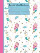 Mermaid Unicorn Composition Notebook - 5x5 Graph Paper