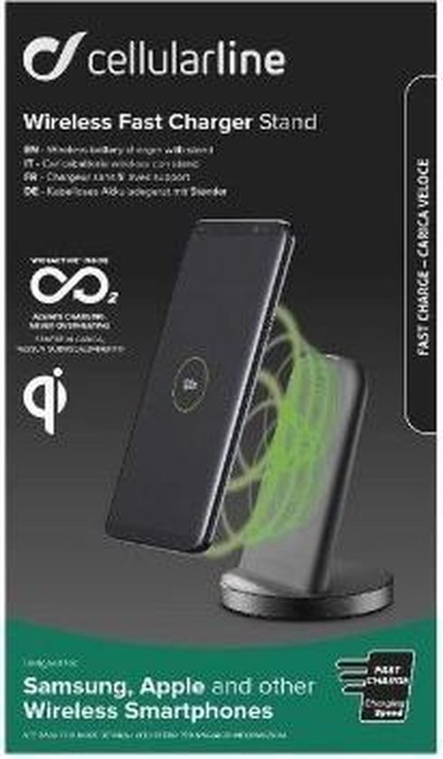 Cellularline Draadloze Fast Charger smartphone
