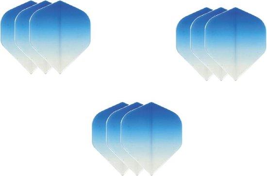 3 sets (9 stuks) Super Sterke dart flights - Dragon darts  - Fade Top Blauw - darts flights