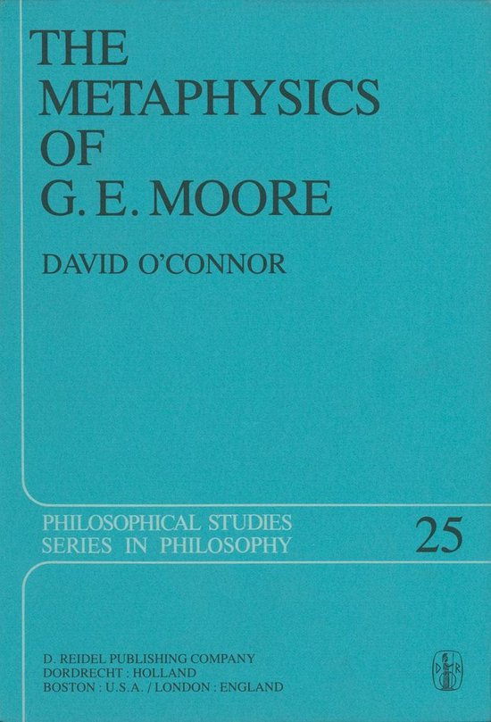 Boek cover The Metaphysics of G. E. Moore van David OConnor (Onbekend)