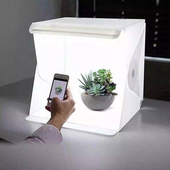 GT Commerce Fotostudio fotobox | foto studio met LED verlichting | Opvouwbaar | 22x23x24 cm