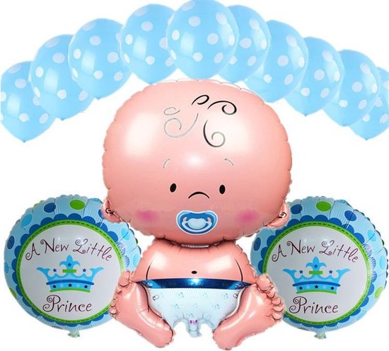 Babyshower Versiering Pakket - Baby Shower Folie Balonnen Set - Geboorte Cadeau Jongen