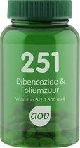 AOV 251 Dibencozide & Foliumzuur Voedingssupplementen - 60 zuigtabletten
