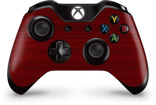Xbox One Controller Skin Brushed Rood Sticker