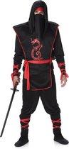 Karnival Costumes Verkleedkleding Ninja kostuum voor heren Zwart - M