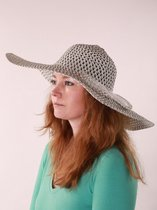 Dames hoed - zwart-wit -brede rand