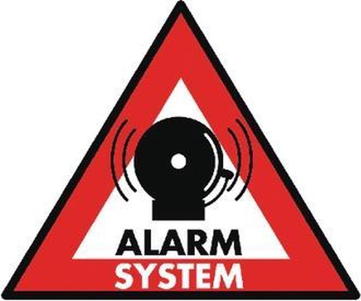KONIG Alarmsysteem sticker (12cm x 15cm) - Konig