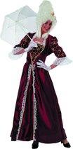 Markiezin taft jurk middeleeuwen bordeaux Maat 38