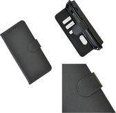 Pearlycase Hoes Wallet Book Case Zwart voor Huawei P20 Lite (2019)