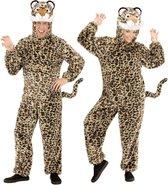 Leeuw & Tijger & Luipaard & Panter Kostuum | Dieren Onesie Pluche Luipaard Kostuum | Medium / Large | Carnaval kostuum | Verkleedkleding