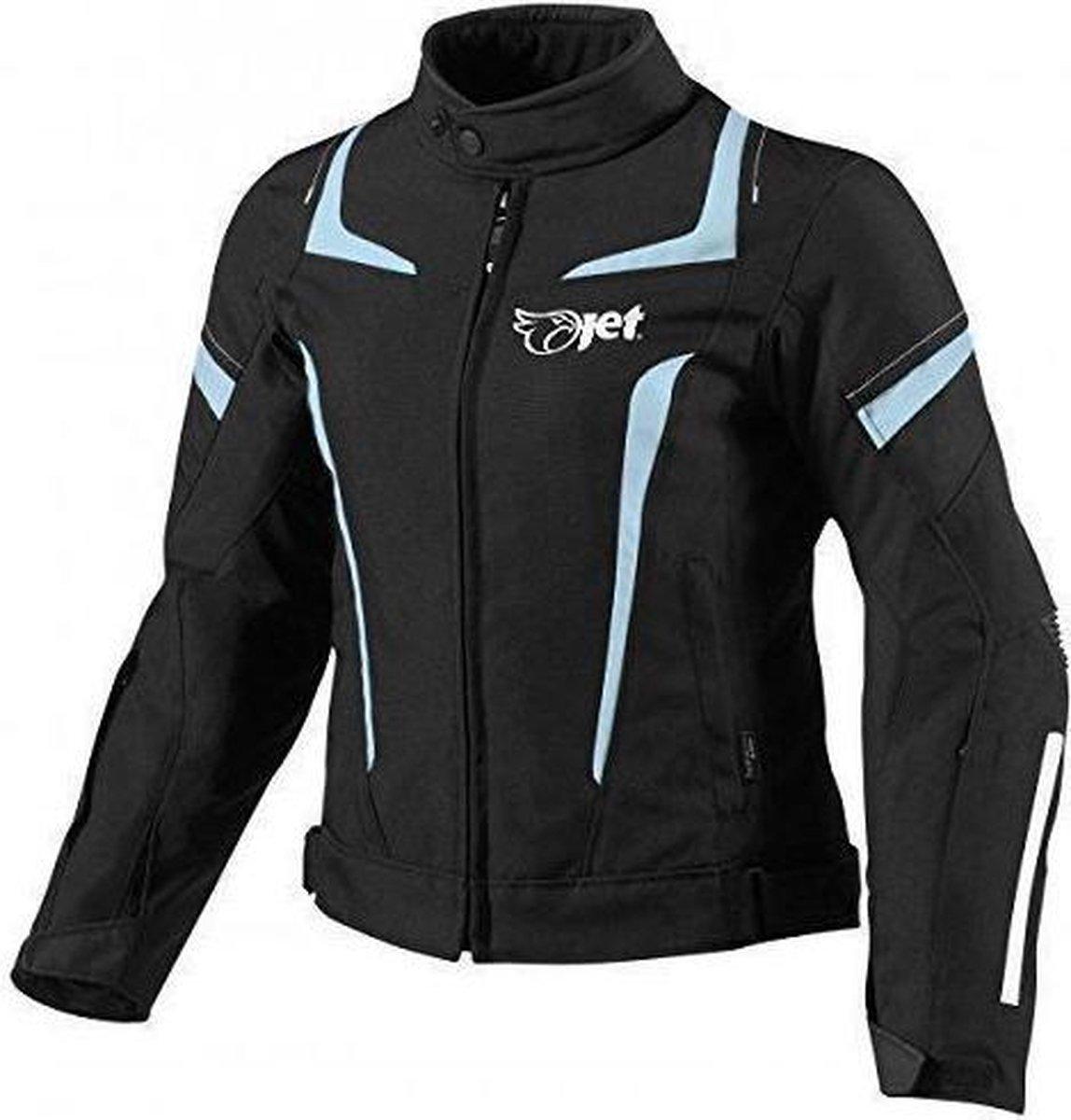 JET Textiele Motorjas Dames - Zwart Blauw - Maat XL
