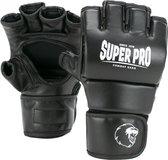 Super Pro Combat Gear Brawler MMA Handschoenen Zwart/Wit Extra Small