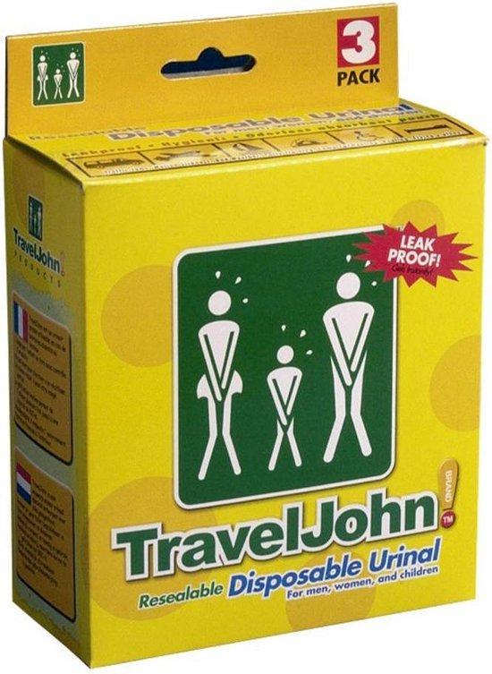 Wegwerp urinaal Travel John - 3 stuks
