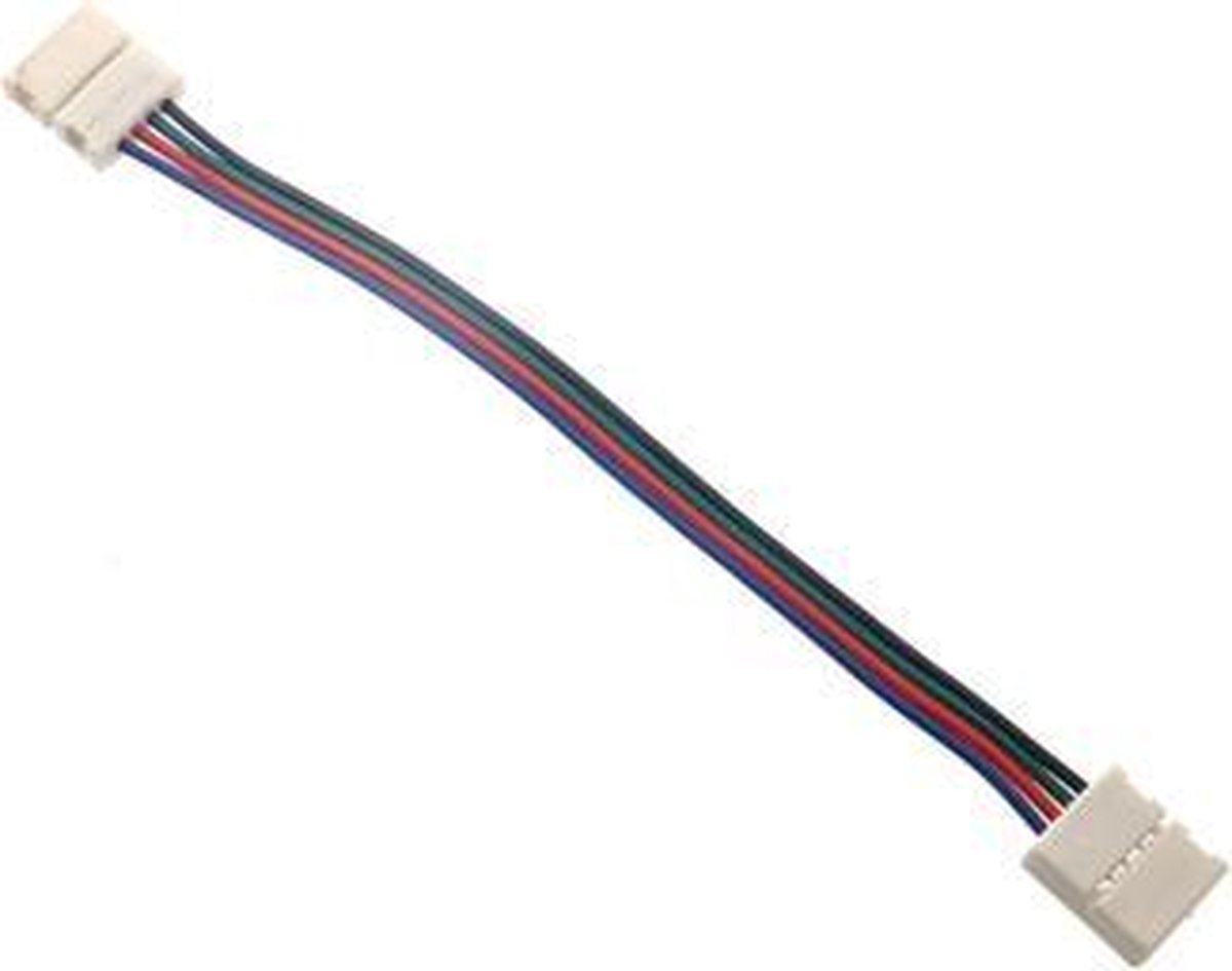 12V LED strip naar strip connector (RGB) 5050 SMD (niet waterdicht)