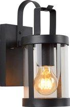 Lucide LINDELO Wandlamp Buiten - E27 - IP23 - Zwart