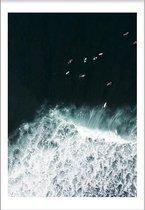 Surfs Up (21x29,7cm) - Wallified - Tropisch - Poster - Print - Wall-Art - Woondecoratie - Kunst - Posters