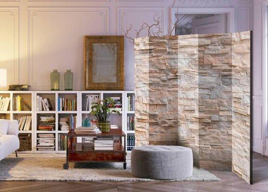 Vouwscherm - Stenen muur  225x172cm - karo-art