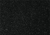 Hobbyvilt, A4 21x30 cm, dikte 1 mm, zwart, zilver glitter, 10vellen