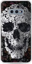 Samsung Galaxy S10e hoesje Doodle Skull BW Casetastic Smartphone Hoesje softcover case