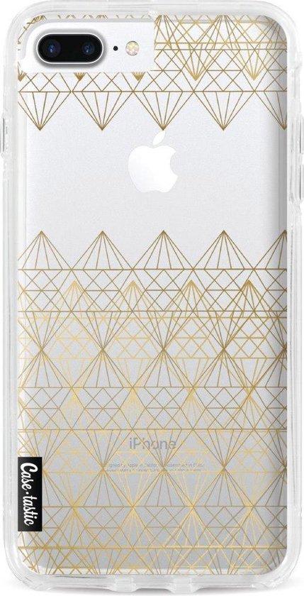 Apple iPhone 7 Plus / iPhone 8 Plus hoesje Golden Diamonds Casetastic Smartphone Hoesje Hard Cover case