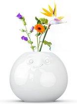 Tassen bloemenvaas rond met geamuseerd gezicht - 92