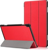 3-Vouw sleepcover hoes - Lenovo Tab P10 - Rood