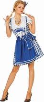 Oktoberfest Dirndl Brigitte jurkje blauw Tiroler dame Maat 34