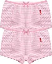 Claesen's Meisjes 2-pack Boxershort - Roze Ruit - Maat 128-134
