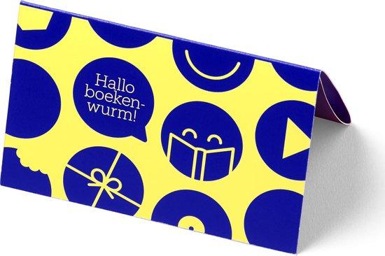 bol.com cadeaukaart - 75 euro - Hallo boekenwurm!
