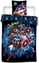 Marvel Avengers Fight - Dekbedovertrek - Eenpersoons - 140 x 200 cm - polyester