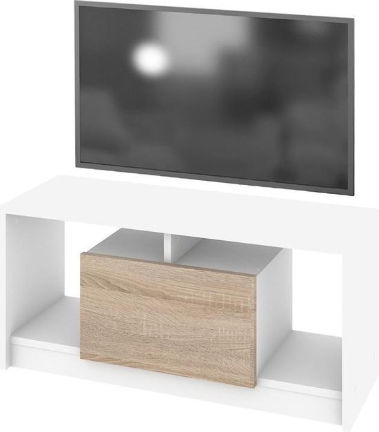 Tv Meubel Dressoir Kast.Bol Com Tv Meubel Dressoir Miniono Kast 90 Cm Breed Wit
