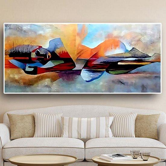 Bol Com Canvas Schilderij Moderne Boeddha Buddha Kunst Aan Je Muur Modern Kleur 60
