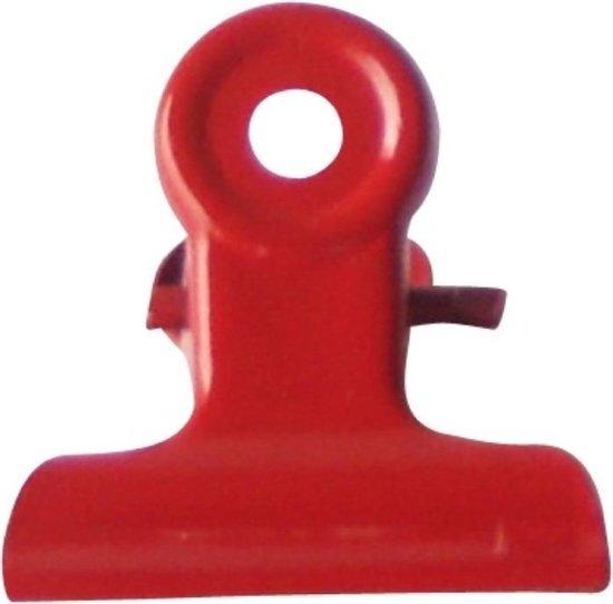 LPC Papierklem Bulldog clip rood - 19 mm -30 stuks