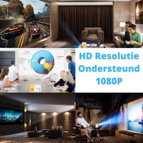 LED LCD Projector - Mini Beamer - Pocket Projectoren met HDMI, USB en SD aansluiting voor Home cinema of presentaties - Compact & Draagbare Beamers -  Inclusief HDMI kabel - Afstandbediening