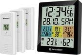 Bresser Temeo Quadro DLX – Digitale Thermo- en Hygrometer incl. 3 Buitensensoren