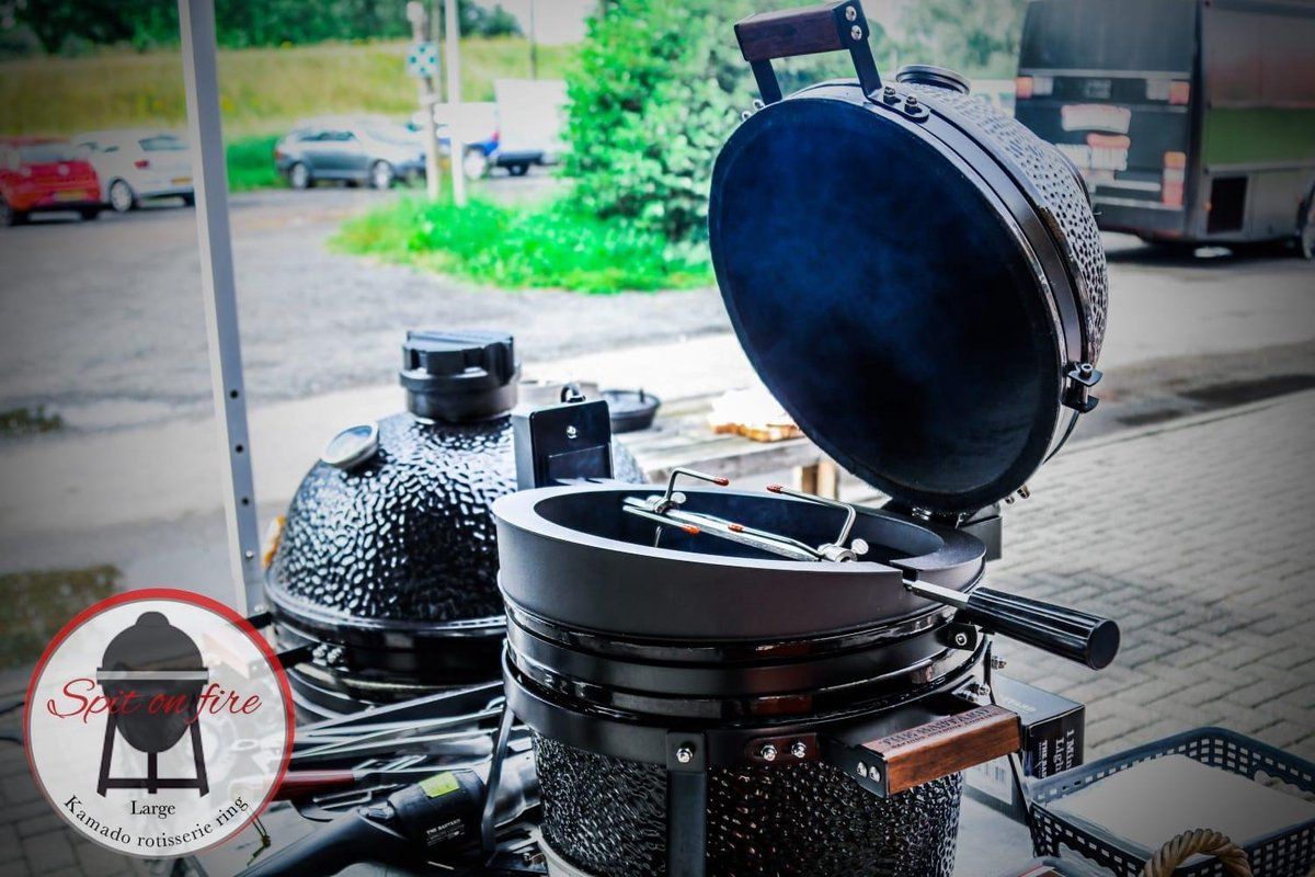 Kamado rotisserie – Spit on Fire 25 inch – thebarbecuelady