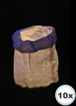 10 x Lazy Candle Bag, windlicht, papieren kaars houder, lichtzak, candlebag, candlebags, bedrukt, logo, foto, tekst. No00