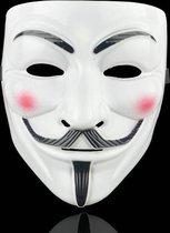 Anonymous Masker - Wit - Vendetta - Guy Fawkes - Leuk voor Halloween - Verkleedpartijtje - 2 stuks